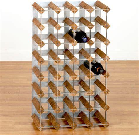 Wood And Metal Wine Rack by Wood Metal Industrial Wine Rack Wine