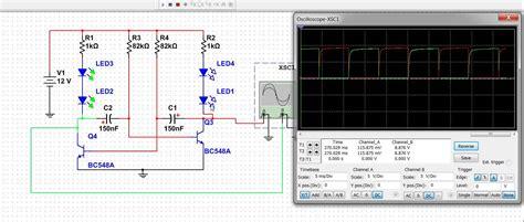 transistor npn simulation astable multivibrator simulation using transistor