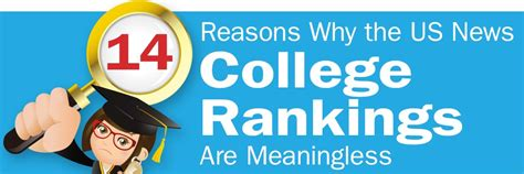 Us News And Reports Mba Rankings by 14 Reasons Why Us News College Rankings Are Meaningless