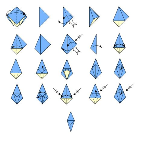 Origami Crane Base - file origami frog base svg wikimedia commons