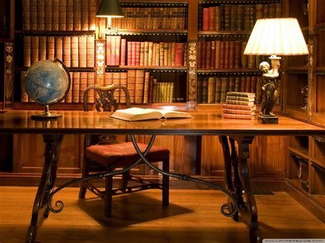 antique library desk 4k hd desktop wallpaper for 4k ultra