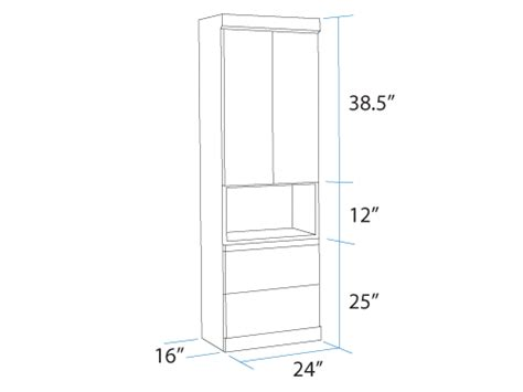 bookcase w bottom door specific dimensions