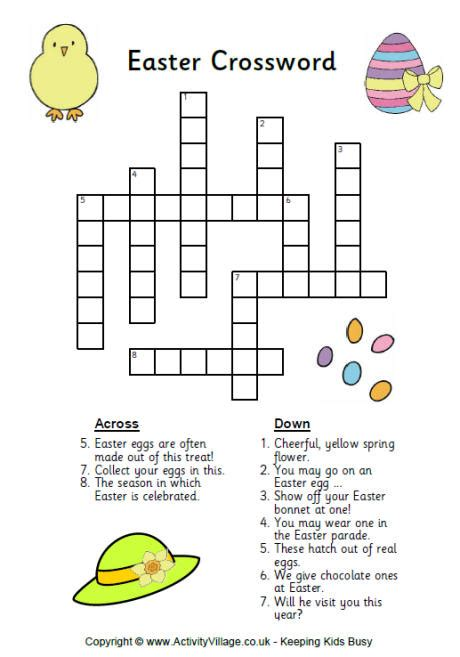 printable easter egg puzzle easter crossword