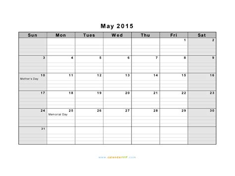 free printable planner may 2015 blank calendar may 2015 landscape calendar