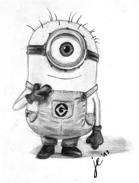 Pensil Minion drawings of minions minion freehand drawing by zackbag on deviantart drawing