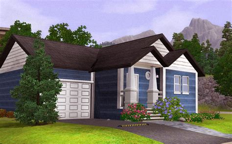 mod the sims blue starter home fully furnished with garage below 30k