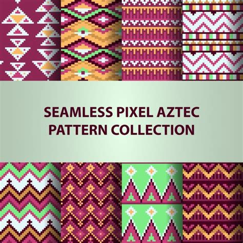 pattern collection download aztec patterns collection vector free download