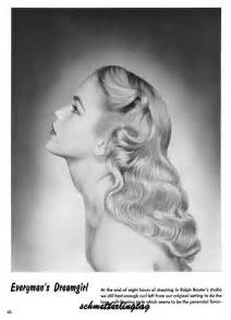 evening hairstyle 50 1950s atomic hairstyle book create 50s long hairstyles