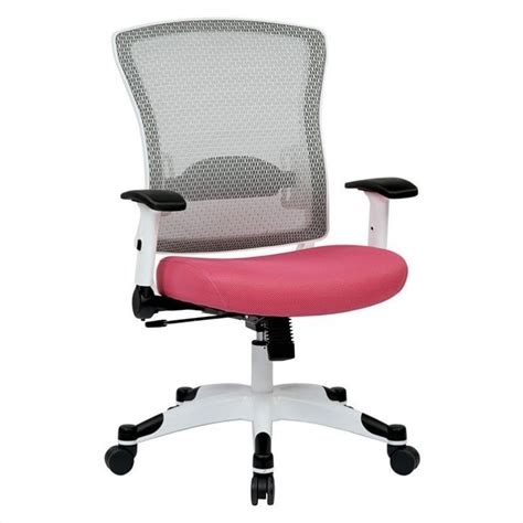 office star pulsar white frame managers office chair  pink  wcfw