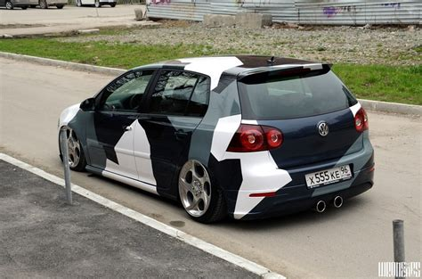 Vw Golf5 Sticker by Cool Camouflage Vinyl For Vw Golf 5 Cars One Love
