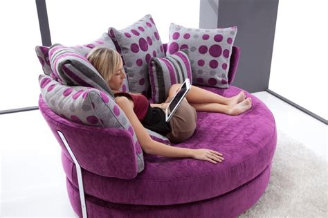 Purple Cuddle Chair by Apple Loveseat By Fama Sitting Areas