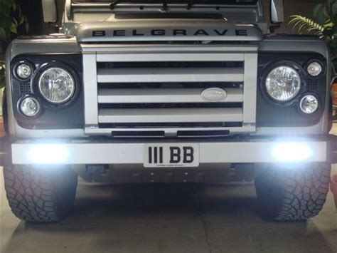 land rover defender bumper lights land rover defender front bumper available with led