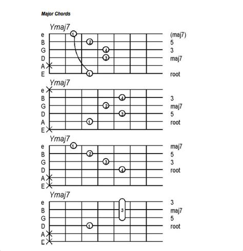 Guitar Chord Chart 6 Download Documents In Pdf Guitar Tab Template Excel