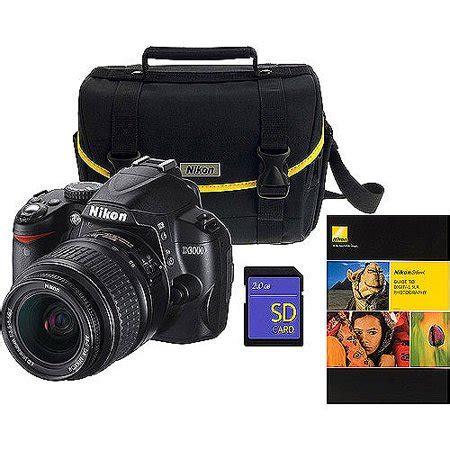 nikon d3000 dslr nikon d3000 black dslr kit w 18 55mm lens non vr