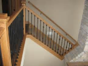Modern Banister Styles Wrought Iron Balusters Minnesota Finish Carpentry
