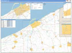 zip code map erie county pa erie county pa zip code wall map basic style by marketmaps
