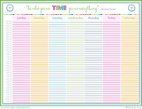 excel template weekly schedul on weekly schedule excel planner maker