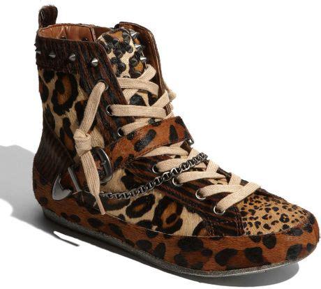 sam edelman leopard sneakers sam edelman studded sneaker in animal leopard