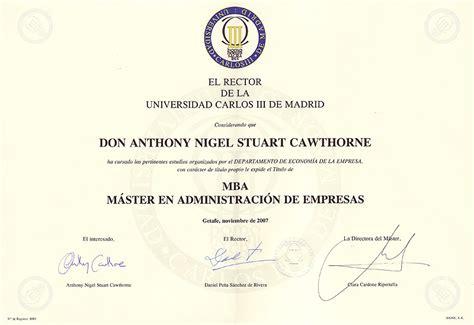 Universidad Carlos Iii De Madrid Mba by Anthony S Mba Presentation Madrid