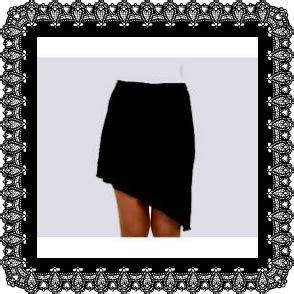 falda con cierre al costado estilomio falda con pico al costado