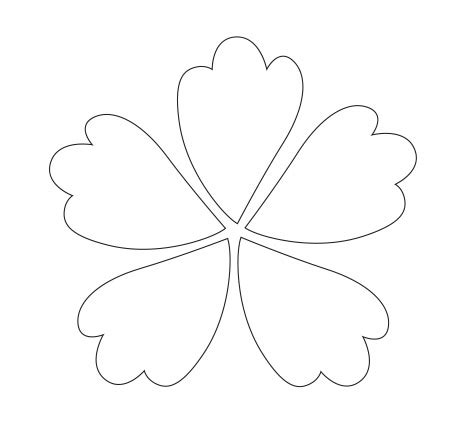 5 Petal Flower Coloring Page Coloring Pages Petal Coloring Page