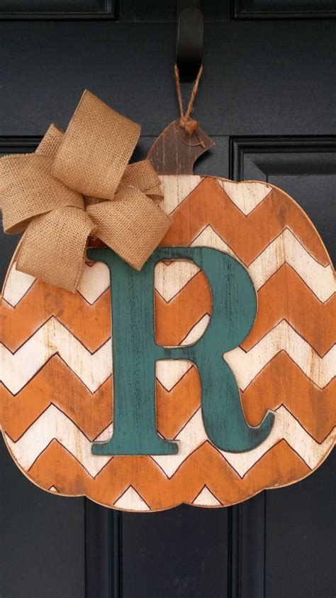 wooden fall decorations fall door decor wood pumpkin door decor by
