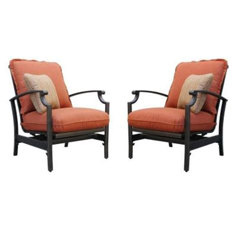 Motion Patio Chairs Thomasville Messina Concealed Motion Patio Club Chair With Paprika Cushions 2 Pack
