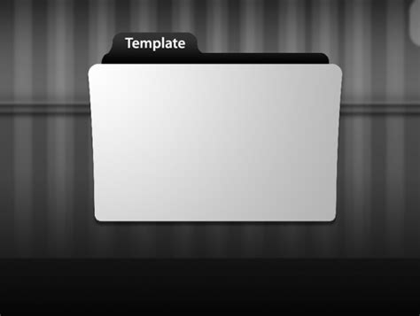 Template Folder by Folder Icon Template Psd File Free