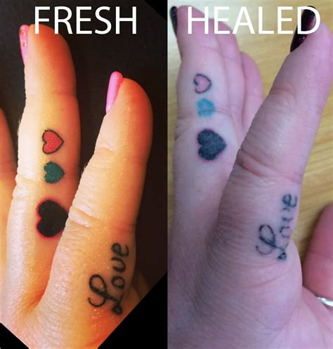 how fast do finger tattoos fade related keywords suggestions for healed finger tattoos