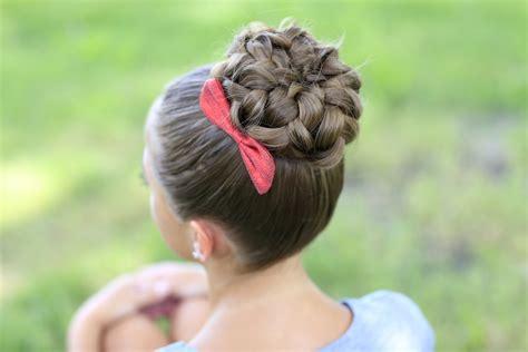 images of braiding hair styles in a bun pancaked bun of braids updo hairstyles cute girls