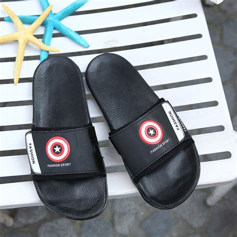 captain america slippers mens wholesale captain america slip on slippers ymj022372