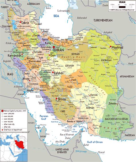 maps of iran detailed map of iran in tourist
