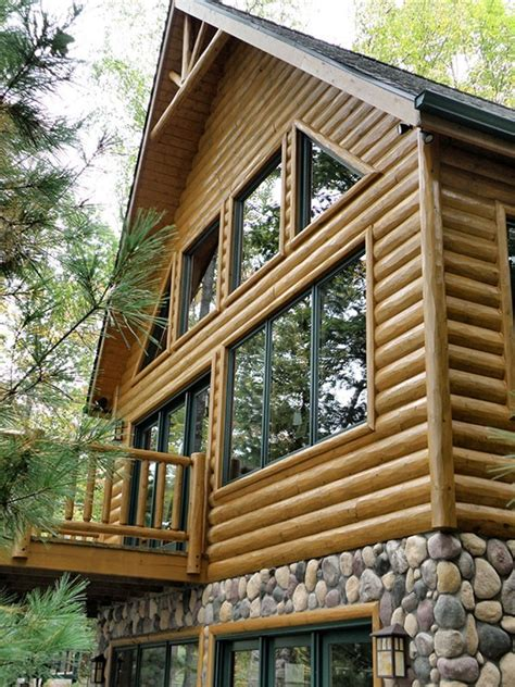 Log Cabin Paneling by Log Siding Half Log Woodhaven Log Lumber