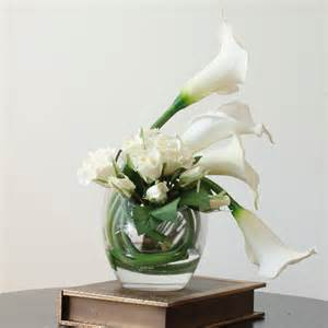 real touch white ivory calla lily rose artificial faux