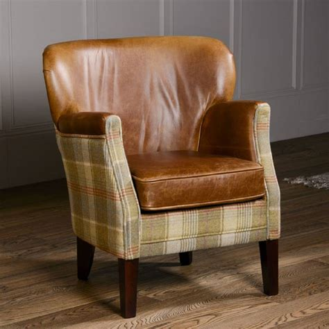 retro leather armchair 366 armchair tweed grey soapp culture