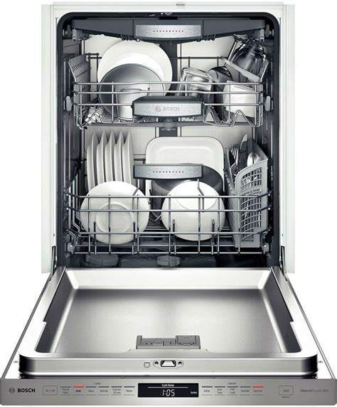bosch dishwasher plate rack bosch shxn8u55uc fully integrated dishwasher with 16 place setting capacity 6 wash cycles 5