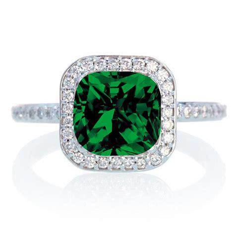 1 5 carat cushion cut classic emerald and halo