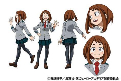 Boku No Academia Kostum Uraraka High School my academia anime s ochako tenya character designs revealed news anime news network