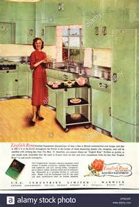 kitchen ads 1950s kitchen english rose design advertisement 1958 editorial use stock photo royalty free