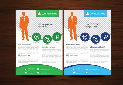 free template for flyer design business vector flyer design layout template in a4 size