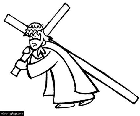 coloring pages jesus carrying cross ecoloringpage printable coloring pages educational