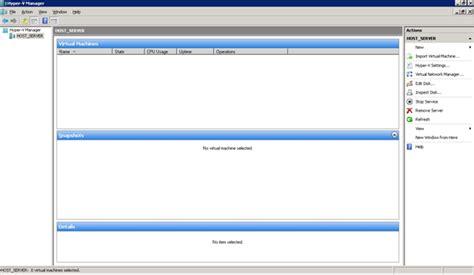 hyper v console windows 7 running whs on server 2008 hyper v part 2