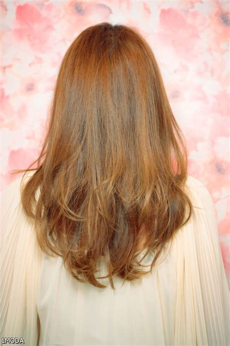 long layers cut towards the back medium v layered haircuts back view 2015 2016 myfashiony