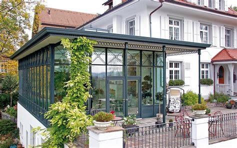 haus veranda anbau orangerie in der schweiz schubert wintergartenmanufaktur