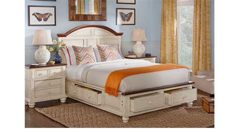 White King Bedroom Set by Berkshire Lake White 5 Pc King Storage Bedroom Panel