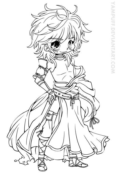 Geomon Ishikawa Chibi Lineart By Yampuff On Deviantart Anime Coloring Pages Deviantart Free
