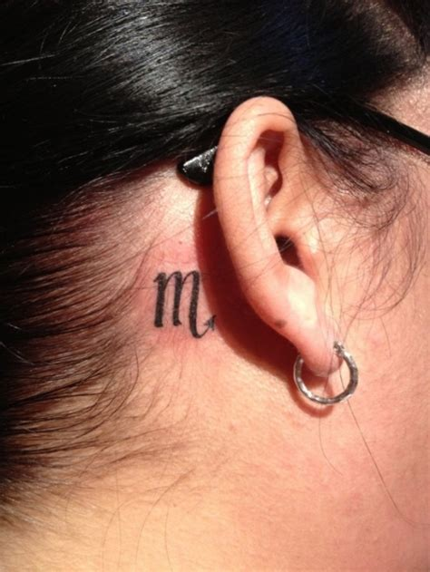 zodiac sign tattoo behind ear 51 scorpio zodiac sign tattoos