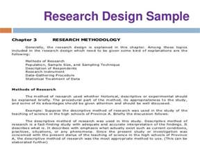 research design dissertation chapter 3 thesis research design