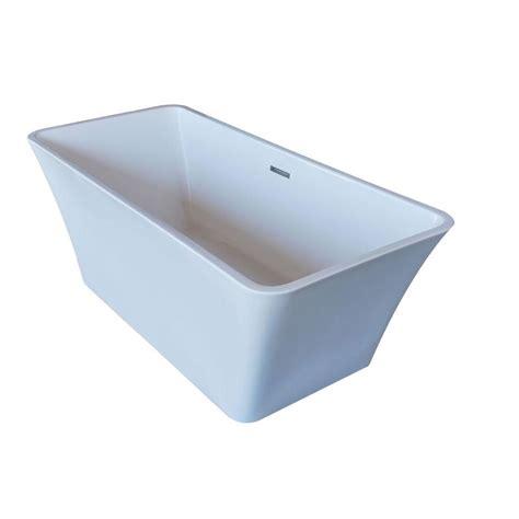 rectangular bathtub universal tubs purecut 5 6 ft acrylic center drain