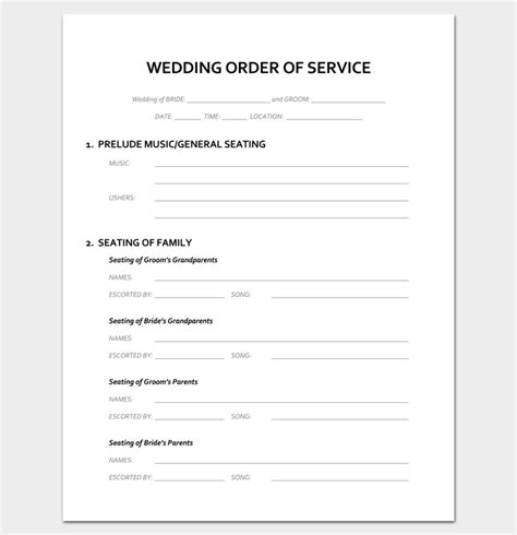 Beautiful Christmas Prayer Song #5: Wedding-Ceremony-Order-of-Service-Template-1.png